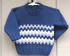 2 to 3 years  Childs knit jumper  Kids knit sweater