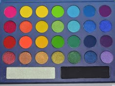 BH Cosmetics Brazil Palette.. my FAVE!! Bold colors and a good eyeshadow primer makes these colors pop on dark skin!! MUST BUY!! ($10 btw)