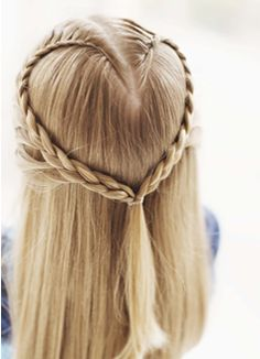 Definitely going to give this hairstyle a try for Valentine's Day!