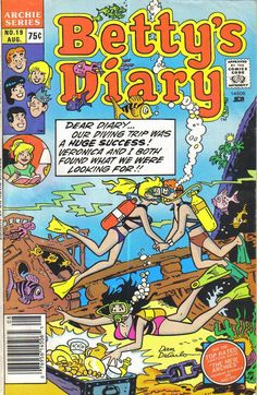 Betty's Diary Archie Comic Publications, Inc… Vintage Cartoon, Vintage Comics, Comic Book Covers, Comic Books Art, Archie Comics Riverdale, Dan Decarlo, Archie And Betty, Betty And Veronica, Classic Comics