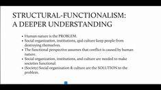 Structural-Functionalism: A deeper understanding.