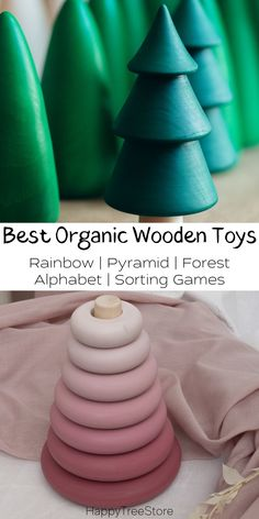 Best Rainbow Organic Wooden Baby Toys by HappyTreeStore. Montessori Rainbow | Pyramid | Forest | Alphabet | Sorting Games. Waldorf and Educational wooden toys is the best gift for toddlers. Our toys are made of environmentally eco-friendly materials for kids of any age #baby #education