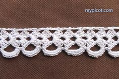 """MyPicot HOME WORK Free Pattern h004.pdf (Downloaded - SLT)  Crochet patterns from """"HOME WORK"""", ROSE PUBLISHING CO. (LTD.), 1881 """"Narrow Cambray Lace No. 4"""""""