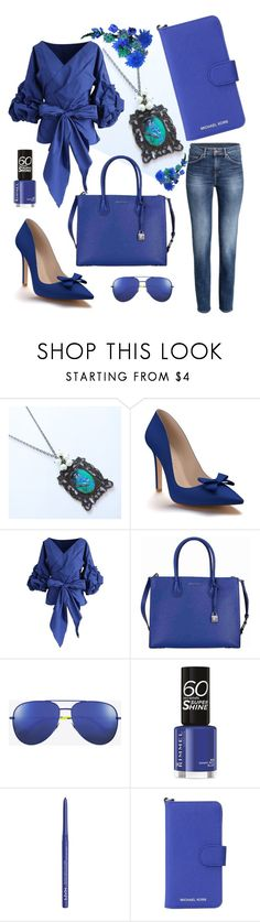 """""""Blue thursday ♥"""" by anagorozpe ❤ liked on Polyvore featuring Shoes of Prey, Chicwish, Michael Kors, Yves Saint Laurent, NYX and MICHAEL Michael Kors"""