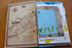World Traveler Smash Book. I love the map and the ability to add papers that you got on your trip like that index card