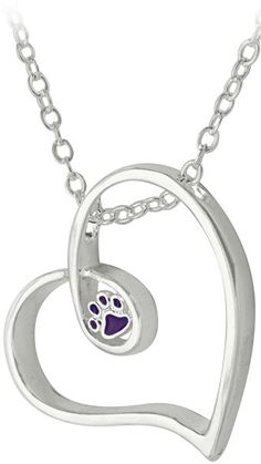 A Love That Never Ends Purple Paw Necklace at The Animal Rescue Site. Purchase funds 14 bowls of food for animals.