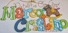 Letrero con nombre♥ Elaborado en mdf y totalmente pintado a mano ♥ Diy Painting, Painting On Wood, Arte Country, Country Paintings, Wooden Signs, Baby Shower Gifts, Hand Lettering, Scrap, Owl