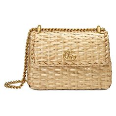Web wicker mini shoulder bag - Gucci Women's Shoulder Bags 524829JCIEG8460