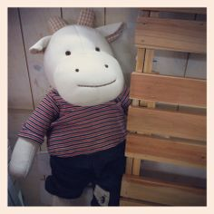 Milky, Cow doll. Designed by Hanz, Baby's 1st dolls and soft toys. using organic cotton fabric.