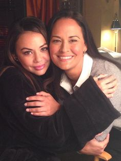 Janel Parrish and Sydney Penny on Pretty Little Liars Season 5 Episode 12