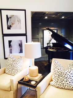 ooh coffered and board and battened walls and ceiling for a grand piano room | design indulgence: SCOTT'S AND MORE