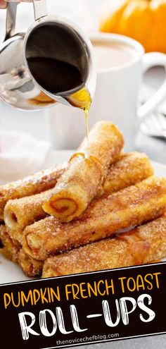 In love with anything pumpkin? Give these Pumpkin French Toast Roll-Ups a try with your kids! Filled with an easy spiced pumpkin pie filling, these super soft treats are coated in cinnamon sugar. Served warm, this perfect handheld breakfast idea will be huge hit! Baked Pumpkin, Pumpkin Spice, Spiced Pumpkin, Sugar Pumpkin, Fall Breakfast, Breakfast For Kids, Brunch Recipes, Breakfast Recipes, Fall Recipes