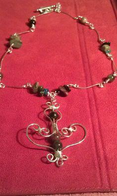 Tourmaline necklace Come shop at http://ButterflyEffectDesigns.Artfire.com