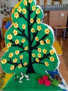 Mevsimler Üç Boyutlu Sanat Etkinliği Evimin Altın Topu   Evimin Altın Topu Montessori Math, Preschool Activities, Diy And Crafts, Crafts For Kids, Arts And Crafts, Waldorf Kindergarten, Paper Tree, Reggio Emilia, Classroom Decor