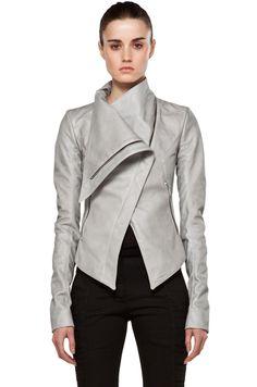 Gareth Pugh Grey Leather Jacket
