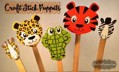 Easy Craft Stick Puppets to make with your children! Package several in a baggie for a simple and inexpensive item for Operation Christmas Child shoeboxes.