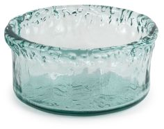 "100% Recycled Glass Textured Small Round Salad Bowl - 7""Dx3.25""H, 30OZ #TradersandCompany"