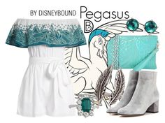 """Pegasus"" by leslieakay ❤ liked on Polyvore featuring JNB, Disney, Brianna Lamar, Mara Hoffman, Gianvito Rossi, Ippolita, disney, disneybound and disneycharacter Disney Bound Outfits Casual, Cute Disney Outfits, Disney Themed Outfits, Disney Dresses, Teen Fashion Outfits, Disney Clothes, Emo Fashion, Princess Inspired Outfits, Disney Princess Outfits"