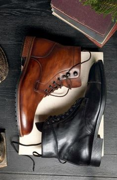 "the-lowdown: "" Magnanni 'Marcelo' Plain Toe Boot (Men) 