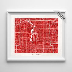 Beijing Map, China Print, Chinese Poster, Street Map, Dorm Decorations, Dorm Wall Decor, Street Map, Street Art, Christmas Gift, Wall Art. PRICES FROM $9.95. CLICK PHOTO FOR DETAILS. #inkistprints #map #streetmap #giftforher #homedecor #nursery #wallart #walldecor #poster #print #christmas #christmasgift #weddinggift #nurserydecor #mothersdaygift #fathersdaygift #babygift #valentinesdaygift #dorm #decor #livingroom #bedroom