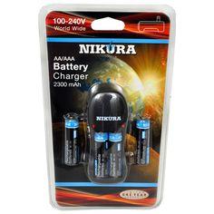 Nikura CH-2300 AA/AAA Charger with 4 AA Batteries