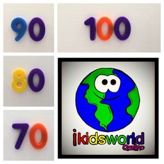 Explore this interactive image: Flashcards: Learning Numbers 60-70 in English.  Fun & eng... by ikidsworld. ThingLink.