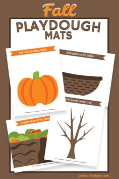 Fall Activities For Toddlers, Thanksgiving Activities For Kids, Pre K Activities, Free Preschool, Free Printables For Preschool, Toddler Daycare, Playdough Activities, Play Dough, Tubs