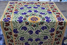 Suzani Embroider Bed Cover