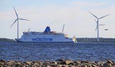 Wasa Line ship (Vaasa, Finland - Ume, Sweden.) - Vaasa, Ostrobothnia province of Western Finland. Native Country, Lappland, Wind Turbine, Sweden, Westerns, Roots, Ship, Travel, Finland