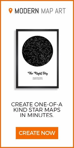Custom Night Sky Star Print With Constellations. Makes a great gift for an anniversary, engagement, birth of a child, and more! Personalize yours in less than 5 minutes.
