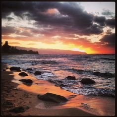 Photo of the #sunset during #SuperBowlSunday on the North Shore of #Oahu.  #oahumoment #gohawaii
