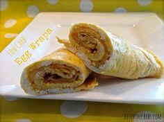 Simple gluten free and wheat free egg wraps. A low carb and nutritious idea for lunches or breakfast. | ditchthecarbs.com Low Carb Breakfast, Breakfast Recipes, Breakfast Tacos, Breakfast Ideas, Breakfast Time, Gluten Free Breakfasts, Gluten Free Recipes, Low Carb Recipes, Gf Recipes