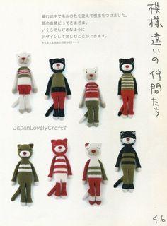 Cat Amigurumi Patterns Amineko Life Nekoyama by JapanLovelyCrafts