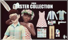 Easter Collection for Children | Onyx Sims http://onyxsims.blogspot.com/2016/03/happy-easter-2016.html