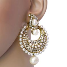 Have you tried earrings with Pearl & Stone? try this beautiful partywear Pearl & Stone Earring. Order it now online from Lucky jewellery  at Rs. 335/- This #wedding season flaunt elegance with this earrings. #jewelry #summer #fashion http://ift.tt/1U383aG