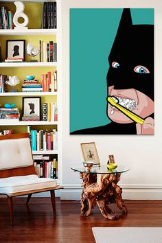 I want this in my bathroom to remind me that batman too must take time out of his busy crime fighting schedule to stay clean. Me and batman are one.