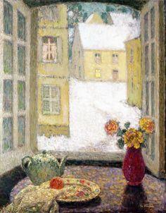 (via Henri Le Sidaner, La table devant la fenêtre, … | Painters: Henri A…)