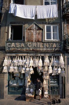 2 - Porto - Portugal - Bacalhau Shop Front - - Rights Managed - Stock Photo - Corbis Visit Portugal, Spain And Portugal, Portugal Travel, Algarve, Saint Marin, Shop Facade, Douro, Voyage Europe, Shop Fronts