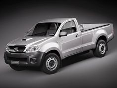 3Dsmax Toyota Hilux Single Cab - 3D Model