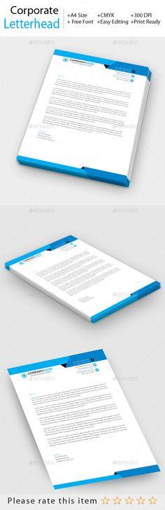 Free Printable Business Letterhead Templates Corporate Business Letterhead  Pinterest  Corporate Business .