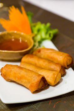 Poh Pai Jee (Thai vegetable rolls with carrot relish) @ Thai Chi, Nairobi, Kenya