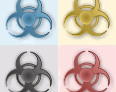 Fidget spinner - Bio-hazard design - Rôzne farby