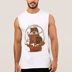 Pirate Mystery Ship Sleeveless Shirt - tap, personalize, buy right now! Closet Staples, Sleeveless Shirt, Fitness Models, Mystery, Tank Man, Ship, Unisex, Casual, Sleeves