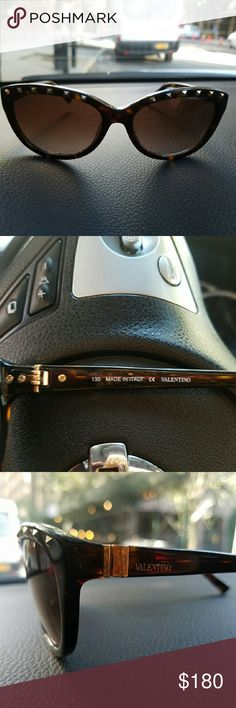 Valentino Sunglasses! In good condition! Just a few slight scratches on the inside off to the sides so doesn't block vision and not noticeable from the front. Beautiful details! brown with gold accents. Make an offer! Valentino Accessories Glasses