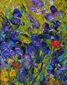 Palette Knife Painters: Abstract Flower Art Impressionism Iris ...