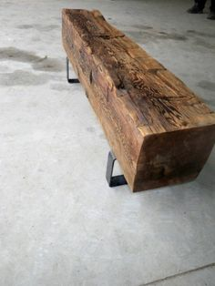 railroad tie bench | ... Barn Beam Bench wonder if I could do this with old…