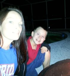 Reanee Wilkinson and my boy at our fire pit