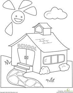 Kumpulan Gambar Rumah Untuk Mewarnai Anak Tk