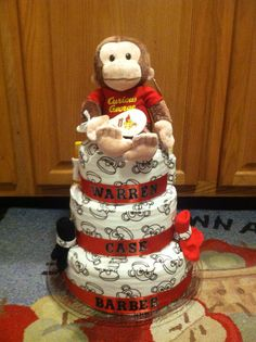 Curious George Diaper cake.