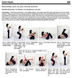 Kettlebell Exercise - Deck Squat
